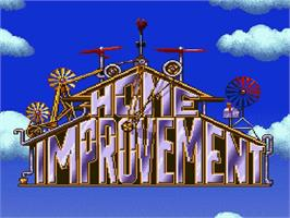 Title screen of Home Improvement: Power Tool Pursuit on the Nintendo SNES.