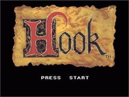 Title screen of Hook on the Nintendo SNES.