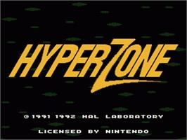 Title screen of HyperZone on the Nintendo SNES.