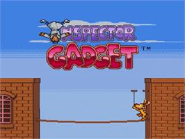 Title screen of Inspector Gadget on the Nintendo SNES.