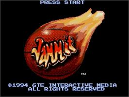 Title screen of Jammit on the Nintendo SNES.