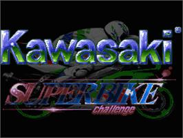 Title screen of Kawasaki Superbike Challenge on the Nintendo SNES.