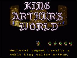 Title screen of King Arthur's World on the Nintendo SNES.