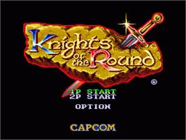 Title screen of Knights of the Round on the Nintendo SNES.