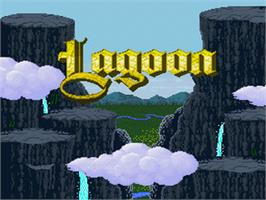Title screen of Lagoon on the Nintendo SNES.