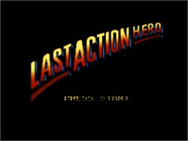 Title screen of Last Action Hero on the Nintendo SNES.