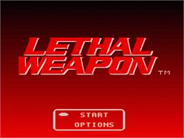 Title screen of Lethal Weapon on the Nintendo SNES.