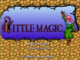 Title screen of Little Magic on the Nintendo SNES.