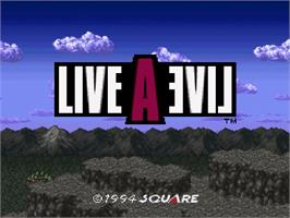 Title screen of Live a Live on the Nintendo SNES.