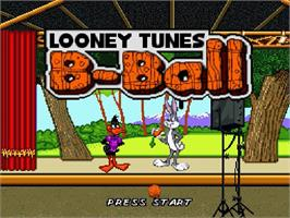 Title screen of Looney Tunes B-Ball on the Nintendo SNES.
