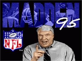 Title screen of Madden NFL '95 on the Nintendo SNES.
