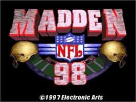 Title screen of Madden NFL '98 on the Nintendo SNES.