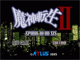 Title screen of Majin Tensei II: Spiral Nemesis on the Nintendo SNES.