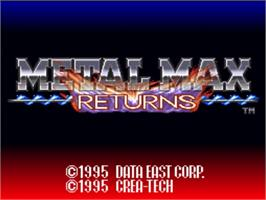 Title screen of Metal Max Returns on the Nintendo SNES.