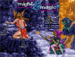 Title screen of Might and Magic II: Gates to Another World on the Nintendo SNES.