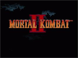 Title screen of Mortal Kombat II on the Nintendo SNES.