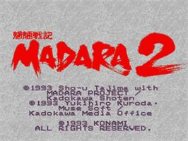 Title screen of Mouryou Senki Madara 2 on the Nintendo SNES.