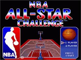 Title screen of NBA All-Star Challenge on the Nintendo SNES.
