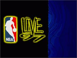 Title screen of NBA Live '97 on the Nintendo SNES.