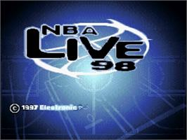 Title screen of NBA Live '98 on the Nintendo SNES.