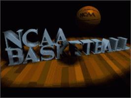 Title screen of NCAA Basketball on the Nintendo SNES.
