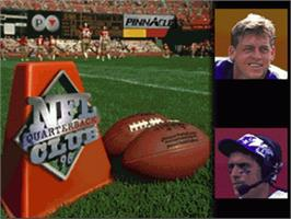 Title screen of NFL Quarterback Club '96 on the Nintendo SNES.