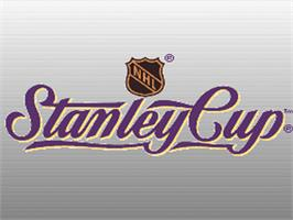 Title screen of NHL Stanley Cup on the Nintendo SNES.