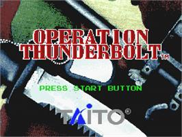 Title screen of Operation Thunderbolt on the Nintendo SNES.