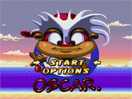 Title screen of Oscar on the Nintendo SNES.