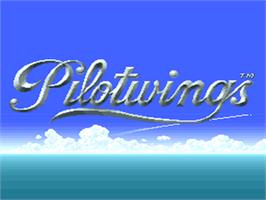 Title screen of Pilotwings on the Nintendo SNES.