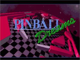 Title screen of Pinball Dreams on the Nintendo SNES.