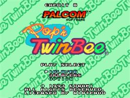 Title screen of Pop'n Twinbee on the Nintendo SNES.