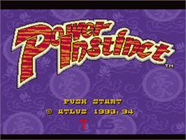 Title screen of Power Instinct on the Nintendo SNES.