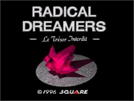 Title screen of Radical Dreamers: Nusumenai Houseki on the Nintendo SNES.