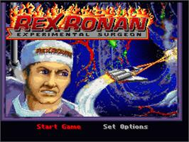 Title screen of Rex Ronan: Experimental Surgeon on the Nintendo SNES.