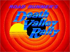 Title screen of Road Runner's Death Valley Rally on the Nintendo SNES.