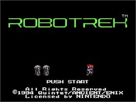 Title screen of Robotrek on the Nintendo SNES.