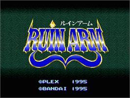 Title screen of Ruin Arm on the Nintendo SNES.