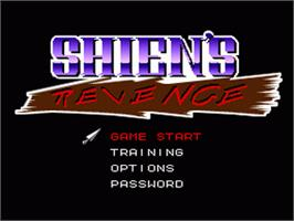 Title screen of Shien's Revenge on the Nintendo SNES.
