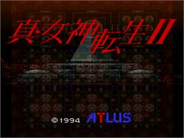 Title screen of Shin Megami Tensei II on the Nintendo SNES.
