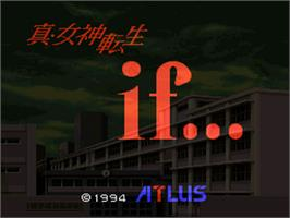 Title screen of Shin Megami Tensei If... on the Nintendo SNES.