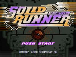 Title screen of Solid Runner on the Nintendo SNES.