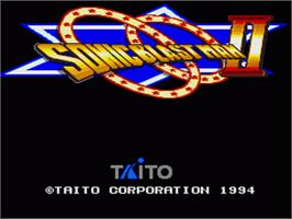 Title screen of Sonic Blast Man 2 on the Nintendo SNES.