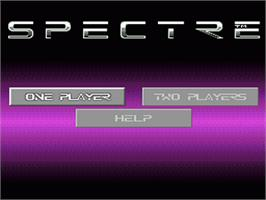 Title screen of Spectre on the Nintendo SNES.