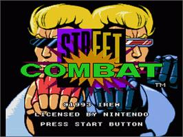 Title screen of Street Combat on the Nintendo SNES.