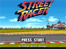 Title screen of Street Racer on the Nintendo SNES.