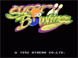 Title screen of Super Bowling on the Nintendo SNES.