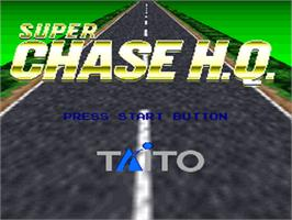 Title screen of Super Chase H.Q. on the Nintendo SNES.