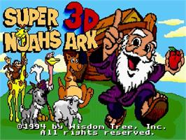 Title screen of Super Noah's Ark 3-D on the Nintendo SNES.