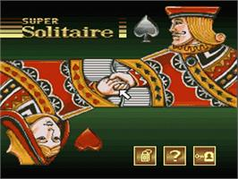 Title screen of Super Solitaire on the Nintendo SNES.